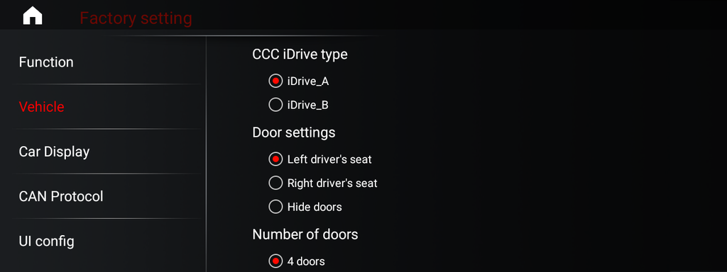BMW idrive setting option