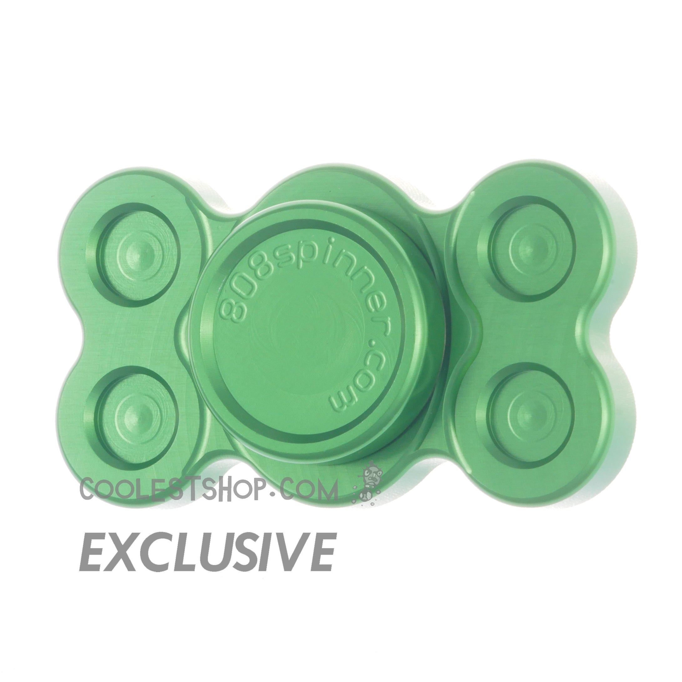 808 Spinner • GEN 1 • by WooSah! USA • Full Aluminum • Anodized GREEN • 608 bearing version • coolestshop.com exclusive IN STOCK NOW!!!