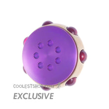 "Nils Kohring • ""7"" Spinner • Nickel Silver body • Red Rubies • Purple anodized Titanium buttons • Prince tribute"