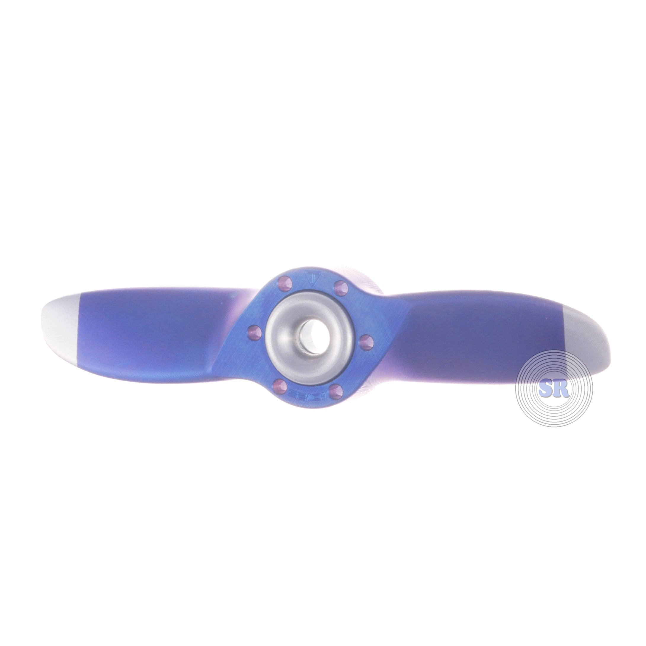 Titan Ring Design • Propeller Custom Spinner • 1/25 • Blue Body , Raw Tips and Buttons