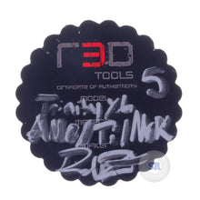 RedTools by Ric Robertson • Trinity • Anodized Titanium with Mokume weights