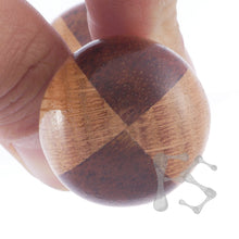 FIDGETSTYX • 4.0 • HVY WEIGHT Knuckle Roller • JUMBO • Oak & Koa • Lacquer Finish