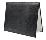 "8.5"" x 11"" Alligator Textured Leatherette Diploma Cover"