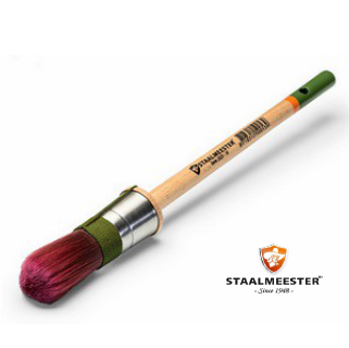 Staalmeester® 100% Synthetic Round Paintbrush Series 2020 #10 (20mm) - Rustic Farmhouse Charm