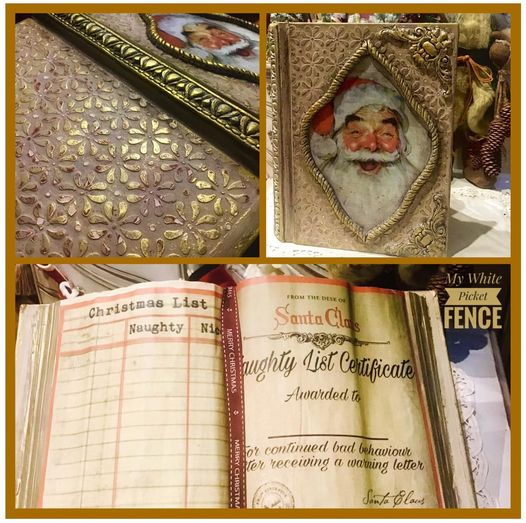 "Workshop by My White Picket Fence: ""NAUGHTY & NICE CHRISTMAS BOOK"" - Rustic Farmhouse Charm"