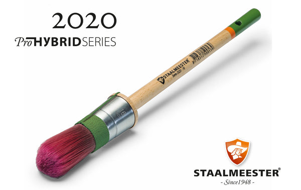 Staalmeester® 100% Synthetic Round Paintbrush Series 2020 #18 (33mm) - Rustic Farmhouse Charm