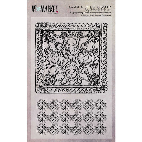 "Gabi's Tile Stamp Set 4""x6"" - 49andMarket"