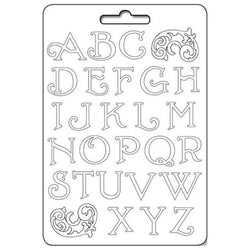 ALPHABET Soft Maxi Mould by Stamperia (A4) - Rustic Farmhouse Charm