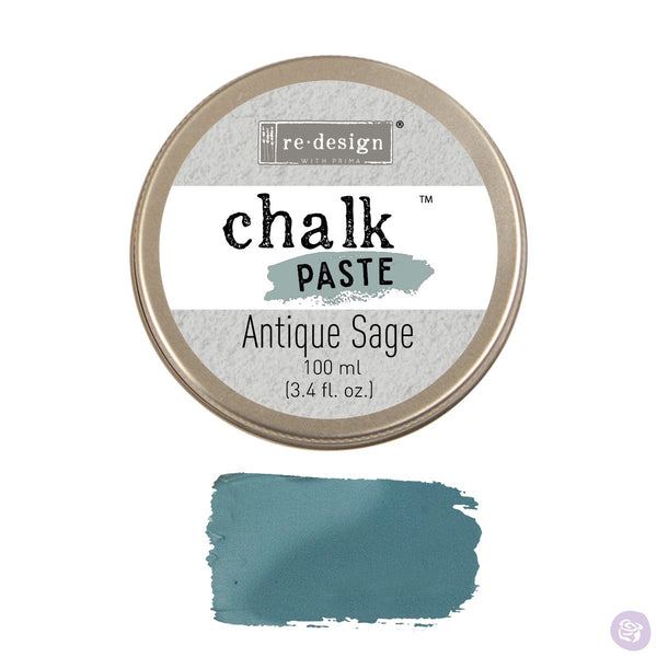 ANTIQUE SAGE Redesign Chalk Paste 100ml - Rustic Farmhouse Charm