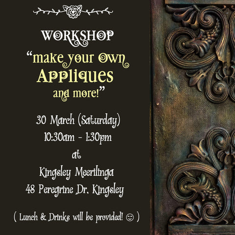 "Workshop: ""Make Your Own Appliques & More!"" (30 Mar, Sat)"