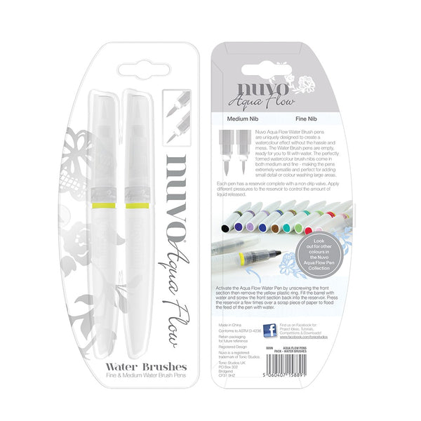 PRE-ORDER by 25 June 7pm WST: NUVO Aqua Flow Water Brushes (Set of 2)