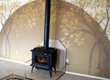 Arched Tree Plaster Stencil by Victoria Larsen