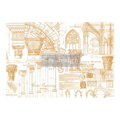 ARCHITECTURE Redesign Transfer 111.76cm x 76.2cm - Rustic Farmhouse Charm