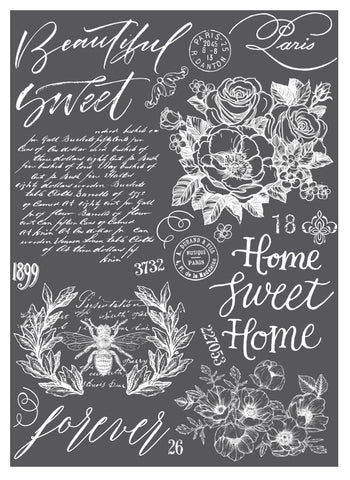 BEAUTIFUL HOME Redesign Transfer (60.96cm x 86.36cm) - Rustic Farmhouse Charm