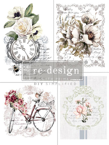BIKE RIDES Redesign Transfer - Rustic Farmhouse Charm