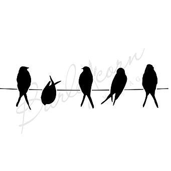 Birds on a Line Stencil by Barleycorn Vintage