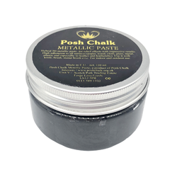 BLACK CARBON Smooth Metallic Paste by Posh Chalk (110ml)