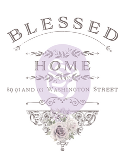 Redesign Transfer - Blessed Home 76.2cm x 62.5cm
