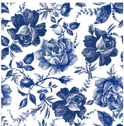 Dixie Belle Decoupage Rice Paper - BLUE SKETCHED FLOWERS (PRE-ORDER) - Rustic Farmhouse Charm