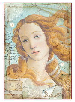 BOTTICELLI LA DI VENERE Rice Paper by Stamperia (A4) - Rustic Farmhouse Charm