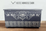 Elegant Cathedral Grey Blanket Box