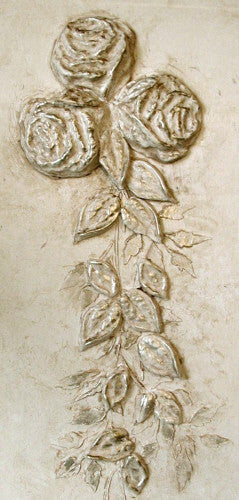 Cabbage Rose & Mold Set Plaster Stencil by Victoria Larsen