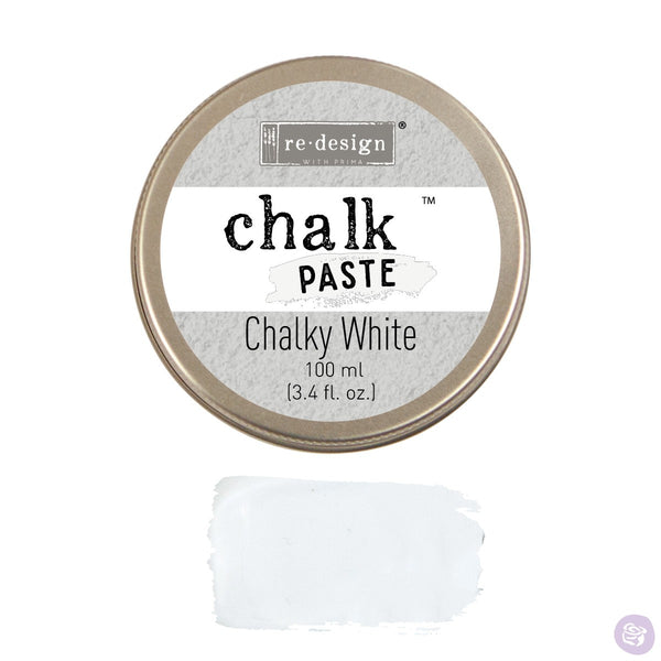 CHALKY WHITE Redesign Chalk Paste 100ml - Rustic Farmhouse Charm