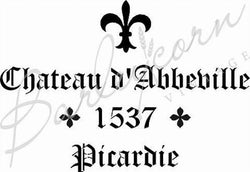 Chateau d'Abbeville Stencil by Barleycorn Vintage
