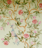Chinese Rose Tree Chinoiserie Painting Stencil by Victoria Larsen
