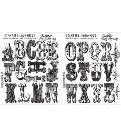 Cirque Alphabet - Tim Holtz Cling Mount Stamp