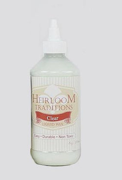 CLEAR Liquid Wax 8oz (226g) by Heirloom Traditions Paint