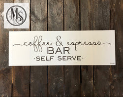 COFFEE & ESPRESSO BAR Stencil by Muddaritaville 55.88cm x 14.24cm