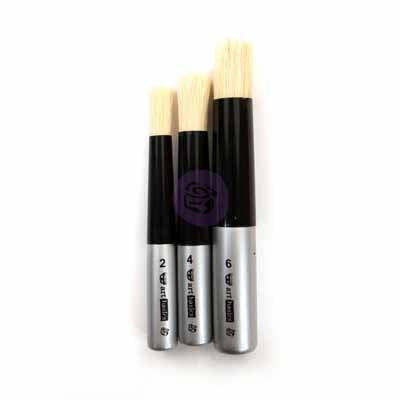 Stencil / Dabbing Brush Set of 3 by Art Basics - Rustic Farmhouse Charm