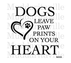 DOGS LEAVE PAWPRINTS Stencil by Muddaritaville 25.4cm x 25.4cm