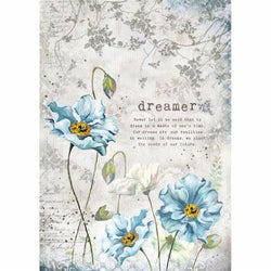 DREAMER Rice Paper by Stamperia (A4) - Rustic Farmhouse Charm