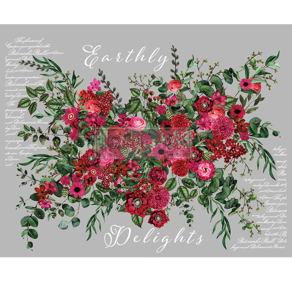EARTHLY DELIGHTS Redesign Transfer (121.9cm x 88.9cm) - Rustic Farmhouse Charm