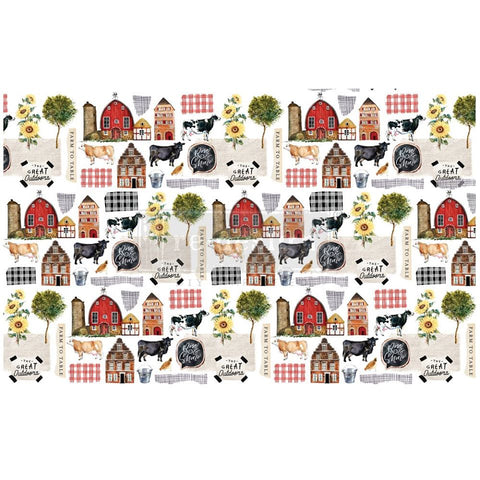 FARM TO TABLE Redesign Decoupage Paper (76.2cm x 48.26cm)