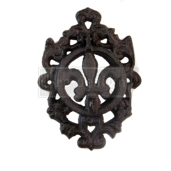 Redesign Cast Iron Door Knocker - FLEUR DE LIS II 15.2cm x 10.5cm - Rustic Farmhouse Charm