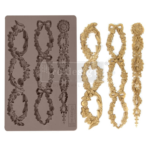 FLORAL CHAIN Redesign Mould - Rustic Farmhouse Charm