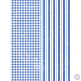 GINGHAM & STRIPES Redesign Transfer 76.2cm x 27.9cm - Rustic Farmhouse Charm