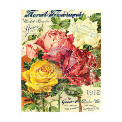 IOD Décor Transfer: COLOURED Floral Treasure SM 35.6cm x 27.9cm