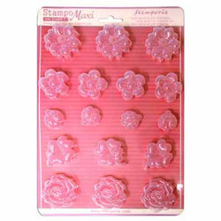 FLOWERS & LADYBUG Soft Maxi Mould by Stamperia (A4)