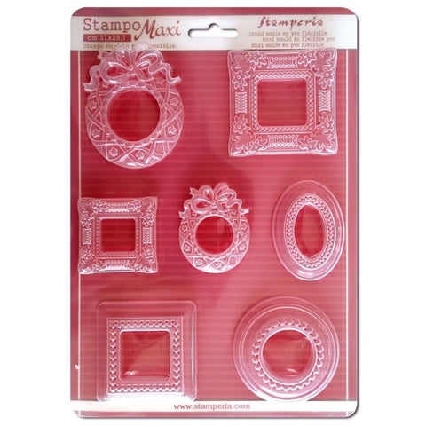 FRAMES Soft Maxi Mould by Stamperia (A4) - Rustic Farmhouse Charm