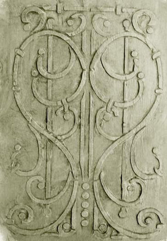 French Wrought Iron Plaster Stencil by Victoria Larsen