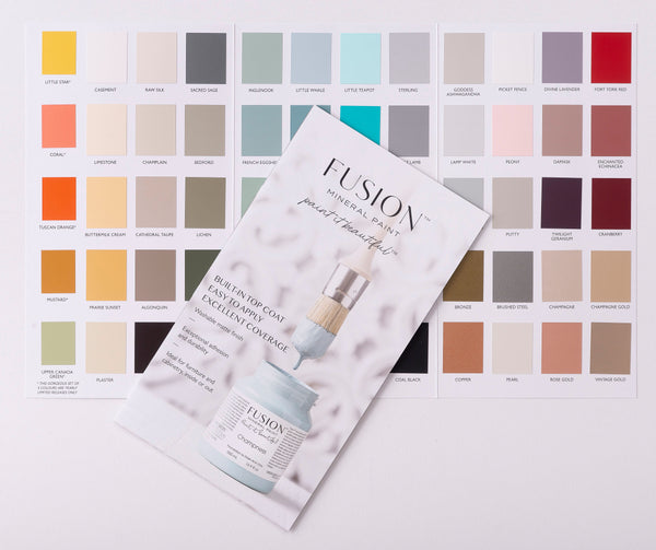 Fusion™ TRUE COLOUR Colour Card (with paint chips)