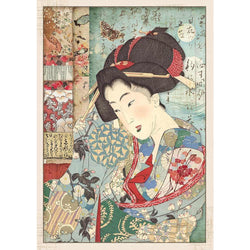 GEISHA Rice Paper by Stamperia (A4)