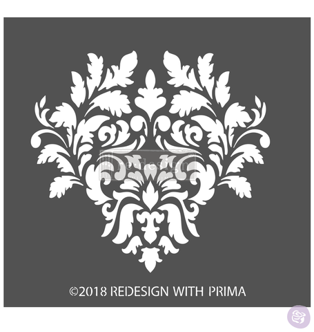 GIOVANNA FLOURISH Redesign 3D Stencil - Rustic Farmhouse Charm