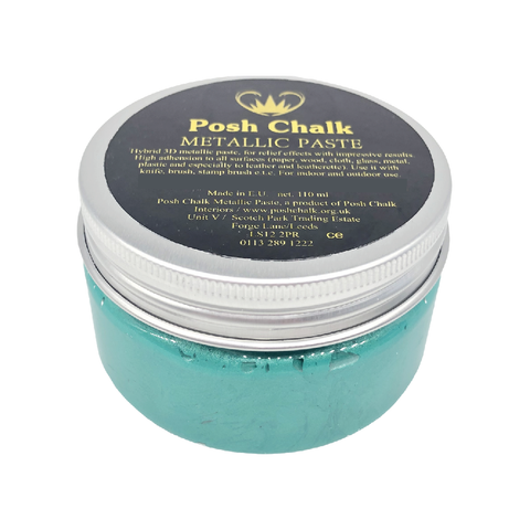 GREEN FHTHALO Smooth Metallic Paste by Posh Chalk (110ml) - Rustic Farmhouse Charm