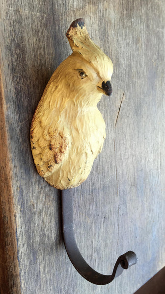 HOOK - Yellow Parrot - Rustic Farmhouse Charm