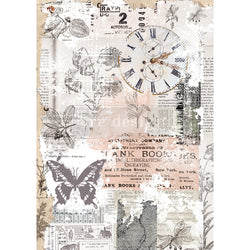 HERB'S MEMORY Redesign Rice Paper 29.2cm x 41.3cm - Rustic Farmhouse Charm
